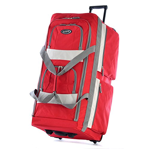 Olympia 33' 8 Pocket Rolling Duffel, Red