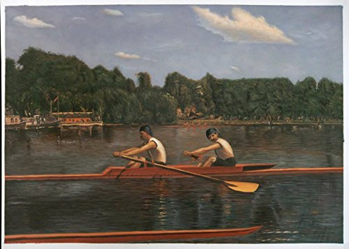 The Biglin Brothers Racing - Thomas Eakins high quality hand-painted oil painting reproduction,two men boating on Schuylkill River,living room (Biglin Brothers Racing)