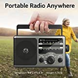 AM FM Portable Radio Battery Operated Radio by 4X D