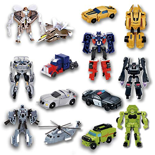 Siyushop 7 Pcs Transform Toys,Deformation Car Robots,Mini Action Figures,Toys for Boys age 3 and up.
