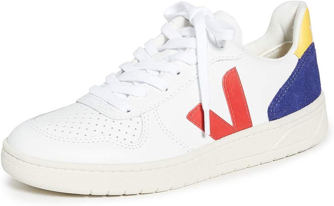 Abrazadera músico Leer  VEJA V-10 Leather Zapatillas Moda Hombres Blanco/Azul/Amarillo - 40 -  Zapatillas Bajas: Amazon.es: Zapatos y complementos