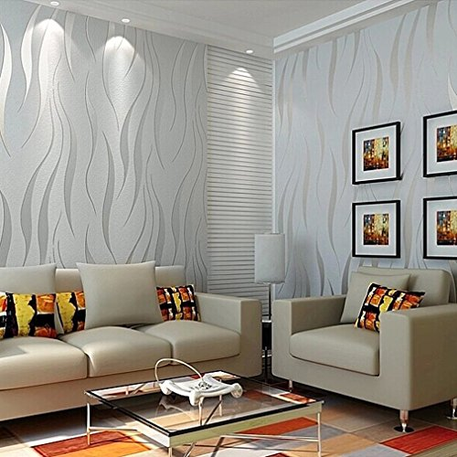 Modern Non-Woven 3D Wallpapers, Pattern Environmental Protection Wallpaper