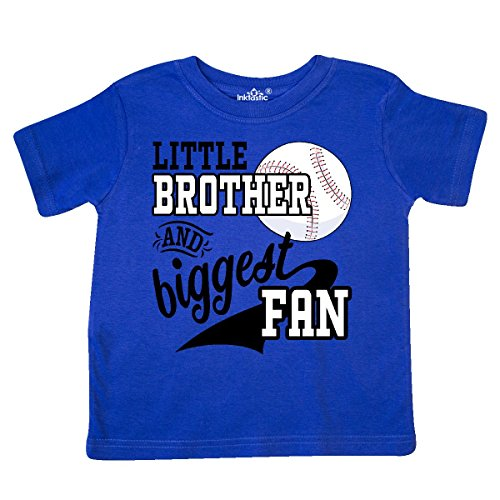 inktastic - Little Brother and Biggest Fan- Toddler T-Shirt 2T Royal Blue 2a7dc