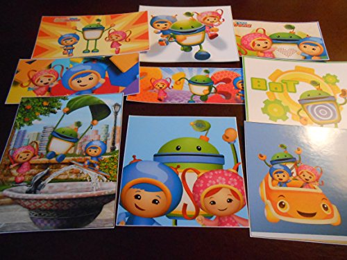 9 Team Umizoomi inspired Stickers, Party Supplies, Favors, gifts, labels, decorations, Srapbooking, Crafts, Rewards ()