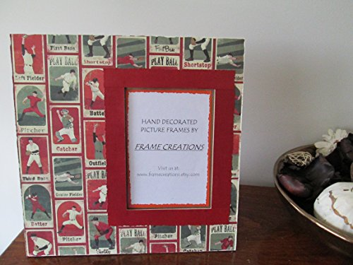 5x7 Baseball Themed - Hand Decorated Picture Frame