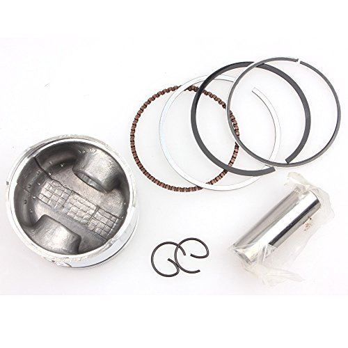 (Wingsmoto GY6 100cc Piston Kit 50mm Big Bore Piston Rings Pin Set Moped Scooter 139QMB)