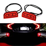 honda civic bumper red - iJDMTOY JDM Style Brilliant Red LED Bumper Reflector Rear Marker Lights For 2016-up Honda Civic Sedan or Coupe (does not fit the Hatchback)