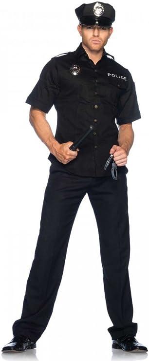 shoperama Police Officer de 4 Piezas de Hombre Disfraz de policía ...