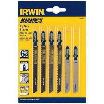 Irwin 3072001 6 Piece T Shank Jig Saw Blade Set Amazon Com