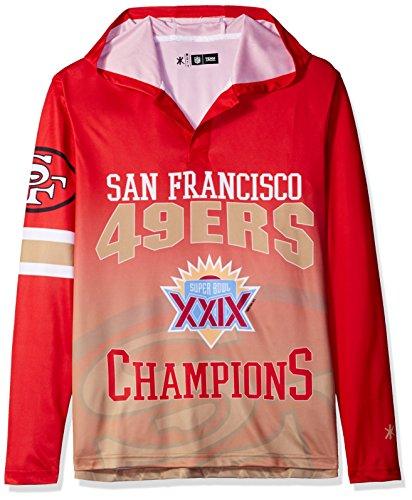 49ers Super Bowl - NFL San Francisco 49ers Super Bowl XXIX Champions Hoody Tee, Medium