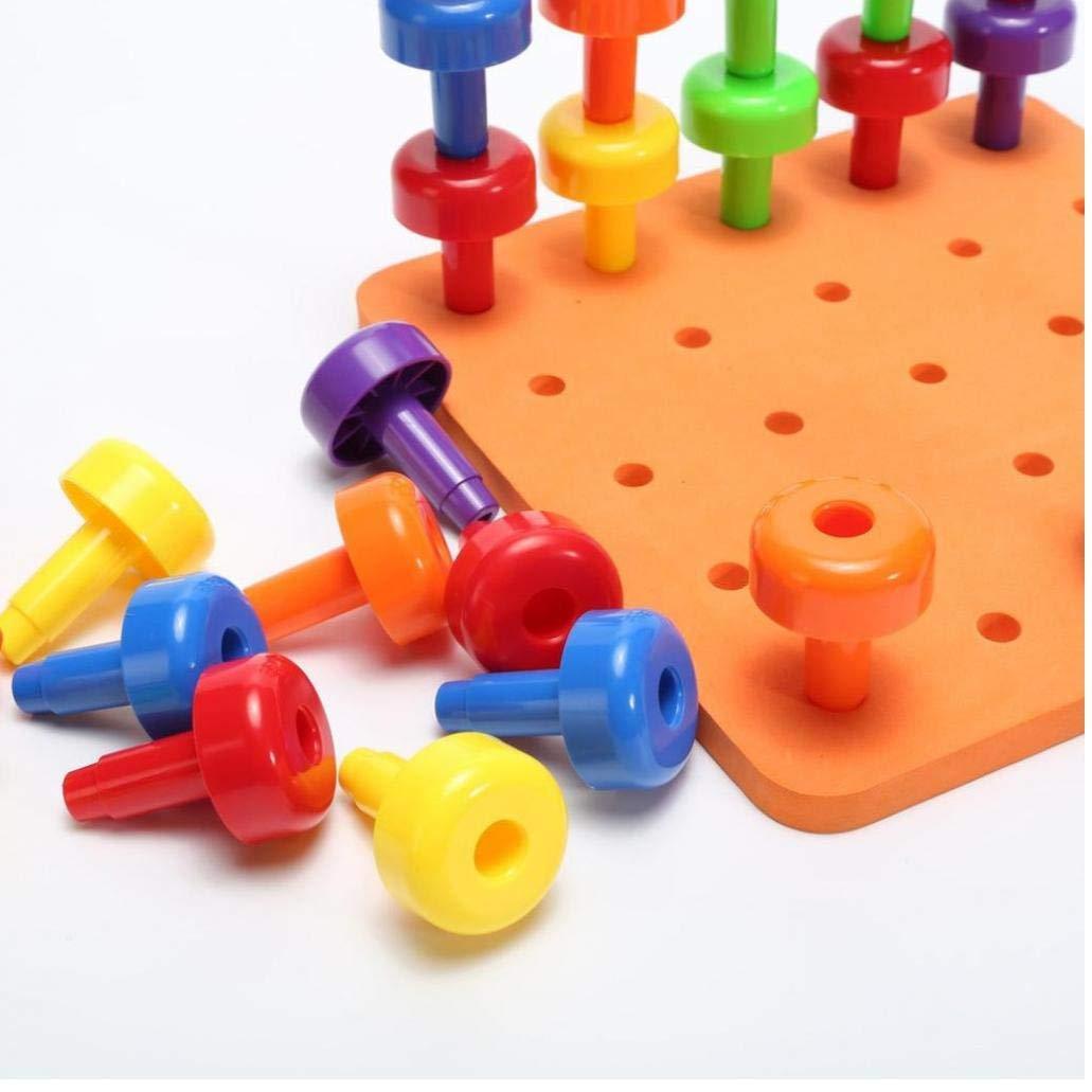 AMOYER 30PCS /ÉGOUTTOIR Set th/érapie Montessori Toy motricit/é Fine pour Enfants en Bas /âge Pegboard