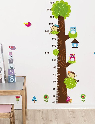 - Yosoo Growth Chart Monkey Cartoon Tree Height Chart Wall Sticker Vinyl Decal Decor Sticker Removable Home Decor