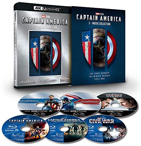 (2019年7月3日 발매예정 - 예약주문) 캡틴 아메리카 : 4K UHD 3 영화 컬렉션 (수량 한정) [4K ULTRA HD + 블루 레이] [Blu-ray]