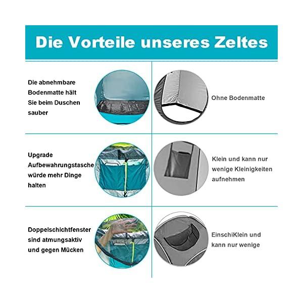 51DC4%2BRGypS YUANJ Camping Duschzelt, Pop Up Toilettenzelt Wasserdicht Umkleidezelt, Outdoor Privat Mobile WC Zelt für Camping…