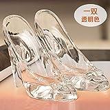 Adornos Zapatos de cristal de Cenicienta Decoración Regalo de cumpleaños de  mujer adulto de 18 años Día de San Valentín para… a325423e79d1