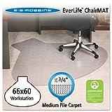 ES Robbins Ever life Chair Mats, L-Workstation with Lip, 66 x 60, Clear (ESR122775) by ES Robbins