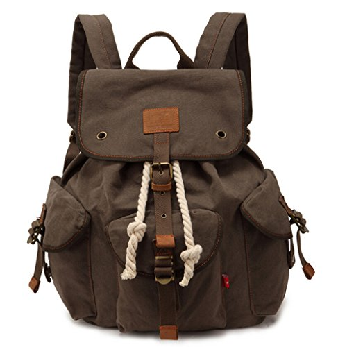 Price comparison product image Bronze Times Fashion Cool European Style Canvas Backpack(ArmyGreen)