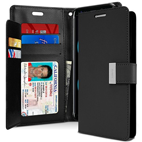 Galaxy S8 Case, [Tri-Fold Wallet Case] GOOSPERY Rich Diary [Drop Protection] PU Leather Cover [Perfect Fit] Shock Absorbing TPU Casing [ID Card & Cash Holders] for Samsung Galaxy S8