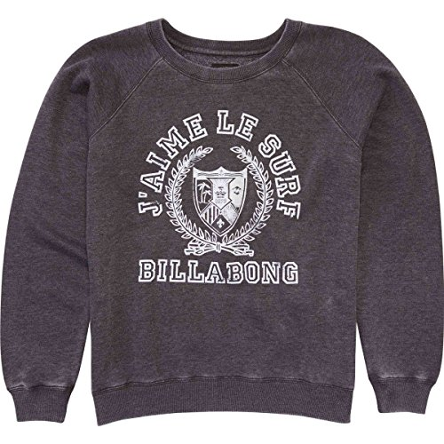 Billabong Black Sweatshirt (Billabong Junior's Jaime Le Surf Neck Sweatshirt, Off Black, M)