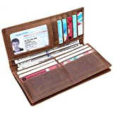 Kinzd Long Wallet Credit Card Holder ID Window Capacity Business Wallet