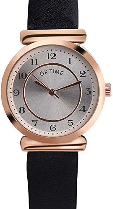 Scpink Reloj de Cuarzo para Mujer, Liquidación Relojes de Pulsera analógicos para Mujer Relojes de Mujer Relojes de Cuero de PU