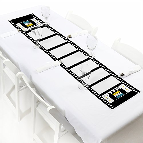 Big Dot of Happiness Movie - Hollywood Petite Party Paper Table Runner - 12 x 60 inches]()