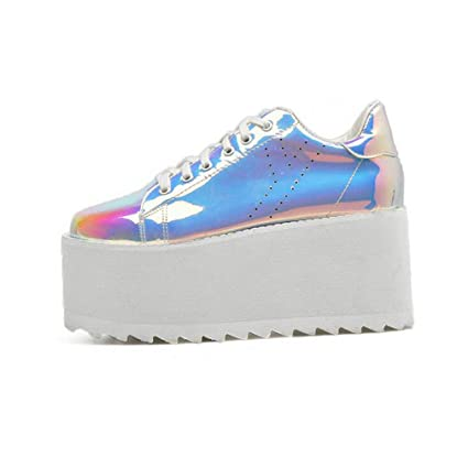 Amazon.com: Zapatos de mujer Hy, de cuero, con muelles y ...