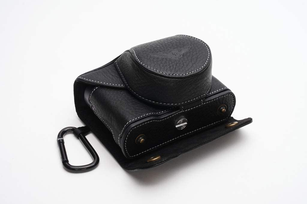 Handmade Genuine Real Leather Full Camera Case Bag Cover for Leica C-LUX Black Color