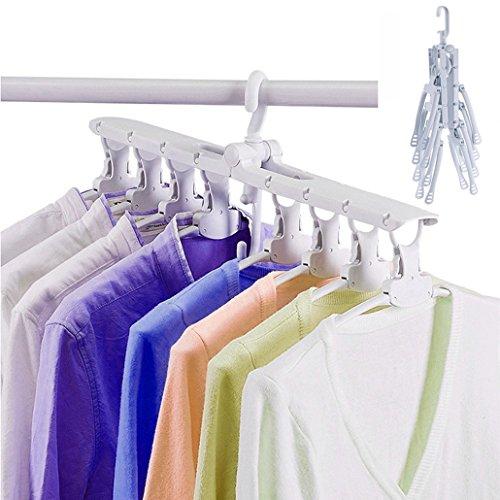 Pink stars Folding Hanger,Magic Collapsible Closet Storage 3