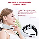 DFFFGGX Electric Pulse Back and Neck Massager Far Infrared Heating Pain Relief Health Care Relaxation Tool Intelligent Cervical Massager
