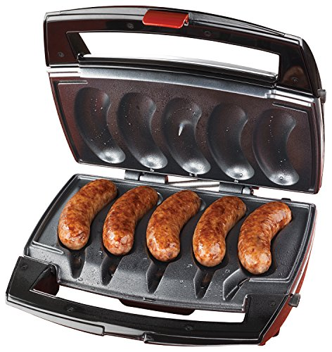 Johnsonville BTG0498 Sizzling Sausage Grill, OSFA, Black/Stainless (Best Way To Clean Drip Pans From Stove)
