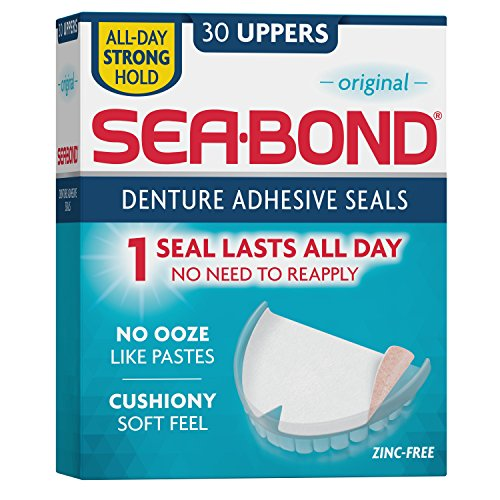 Sea Bond Secure Denture Adhesive Seals, Original Uppers, 30 Count
