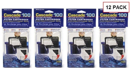 Power Filter Replacement Cartridge (Cascade® Filter Replacement Cartridges for Cascade 100 Hang-on Power Filters, 12-pack)