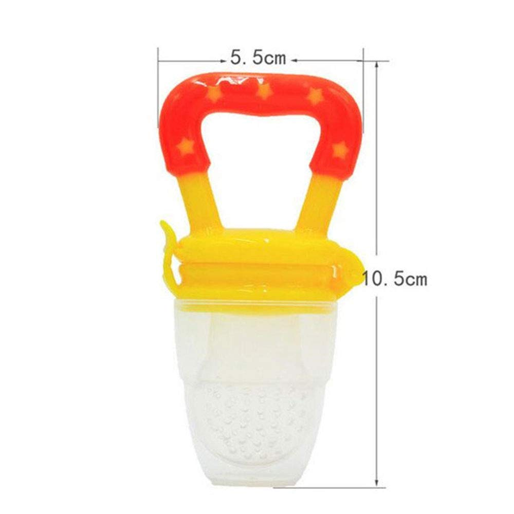 4 ST/ÜCKE Lebensmittel Frische Obst Feeder Bei/ßring Nibbler Kinderkrankheiten Spielzeug Nippel F/ütterung Schnuller Baby Liefert Spielzeug