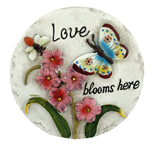Gerson Love Blooms Here Butterfly Spring Themed Stepping Stone