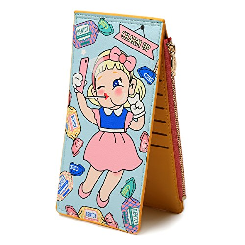 Womens Walllet Multi Card Case Holder Lovely Girls Wallet with Zipper Pocket Xmas Gift by FALE