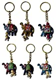 THE BHAIRAV HANDICRAFT Present SET OF 100 PIECES RAJASTHANI HANDMADE ART ELEPHANT KEYCHAINS