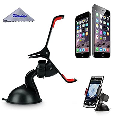 Totoo Cell Phone Holder Vent Mount Cradle for Cars works great For all Iphones 6/5s/5/4s/4, Universal For Smartphones Samsung Galaxy S6/ S5/S4/S3, Samsung Galaxy Note 4/3/2, HTC One, Nexus 4, Lg Nexus 4, Nokia Lumia 920