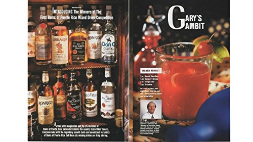 Magazine Print Ad: 1993 Winners of the Rums of Puerto Rico Mixed Drink Competition, 1st Place-Gary L Remley, Gary's Gambit, Black Sunset, 4 page ()