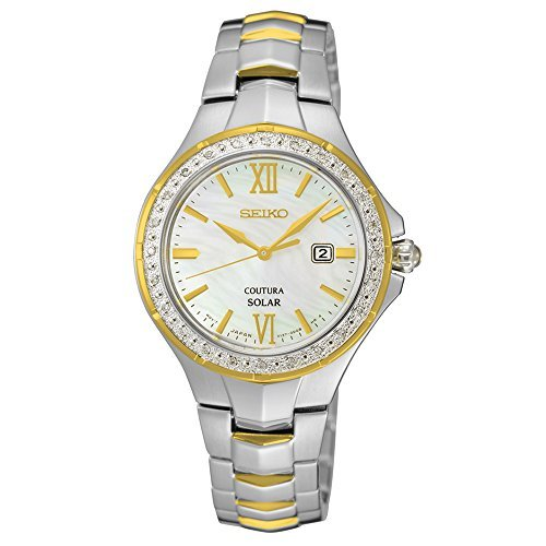 Seiko Women's 'COUTURA' Quartz Stainless Steel Casual Watch, Color:Two Tone (Model: SUT240) by Seiko Watches