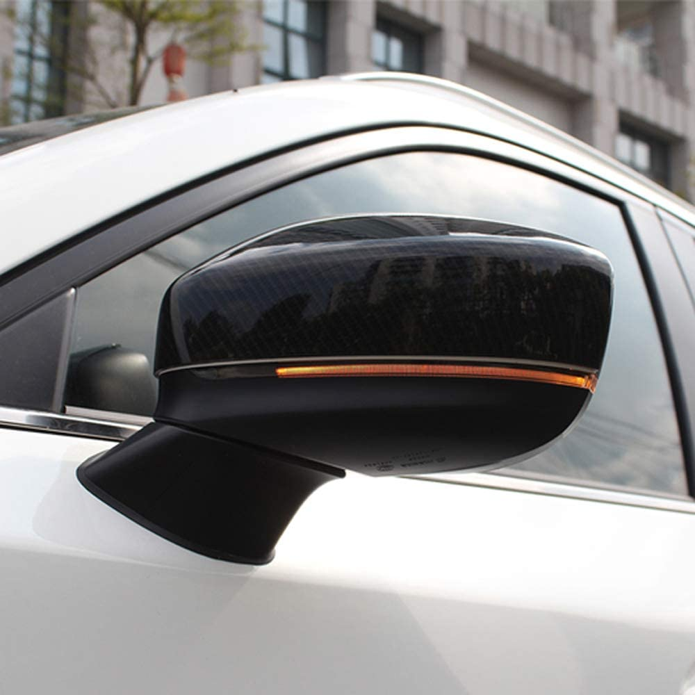 2pcs Carbon Fiber Rearview Mirror Trim Cover Fit for Mazda CX 5 2017 2018