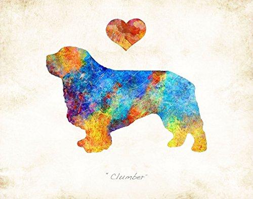CLUMBER SPANIEL Dog Breed Watercolor Art Print by Dan Morris