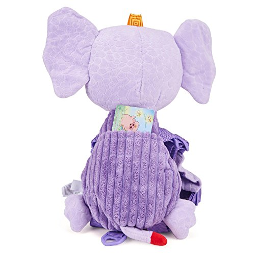 Mufly Toddler Safety Harness Backpack Children's Walking Leash Strap and Name Label -Multicolor (purple) by Mufly (Image #4)