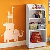MairGwall Nursery Decor - Zoo Decal Animal Safari Stack Vinyl Elephant and Rhinl Baby Nursery Stciker Bedroom Wall Graphics(X-Large,White)