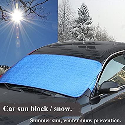 generic car windshield glass sun shading plate double side aluminum foil cover block front window shade - Windshield Glass