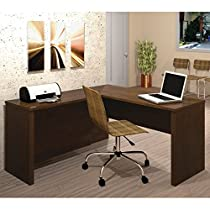 Prestige Plus L-Shaped Workstation - Chocolate