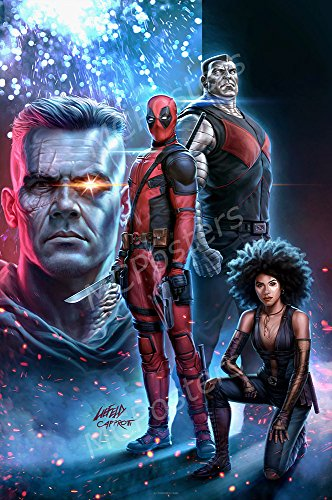 MCPosters Marvel Deadpool 2 Textless GLOSSY FINISH Movie Pos