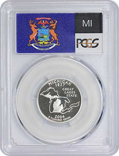 2004 S Michigan State Silver Quarter PR70DCAM PCGS