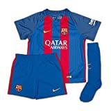 2016-2017 Barcelona Home Nike Little Boys Mini Kit (with sponsor)