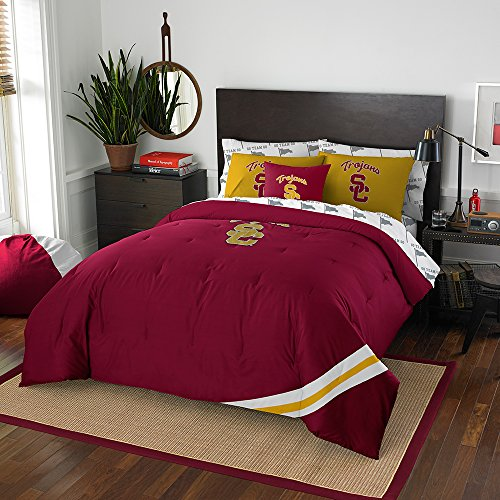 Officially Licensed NCAA USC Trojans Full Bedding Set by Northwest